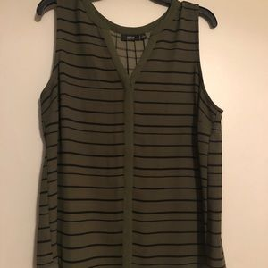 Army green dress tank